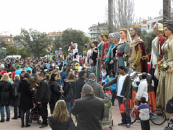 Salou has more than twenty groups of Giants  from all over Catalonia