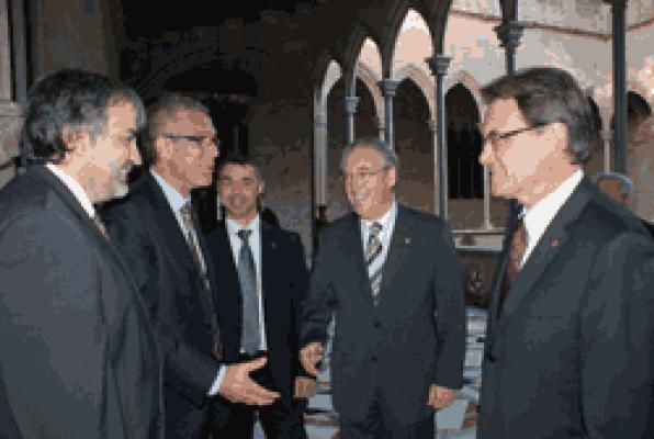 The President of the Council has received the delegation of Tarragona 2017 Mediterranean Games