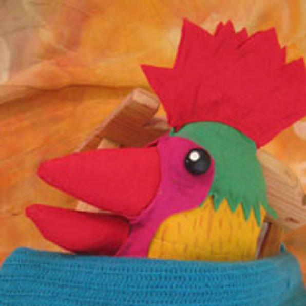 This weekend puppets 'The Rooster Frederick and Catherinethe hen' in Civic Center Salou