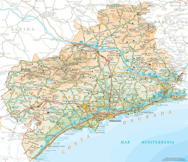 Mapa De La Costa Dorada