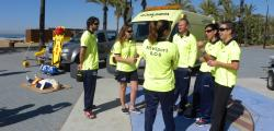 The lifeguards in Salou and monitor the beaches