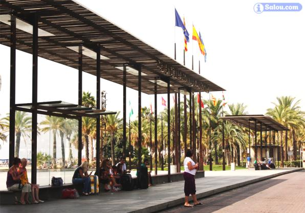 Bus station of Salou, on the square of the Comunitats Autònomes.
