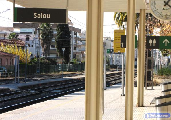 Renfe Station in Salou on the line Barcelona-Tortosa.