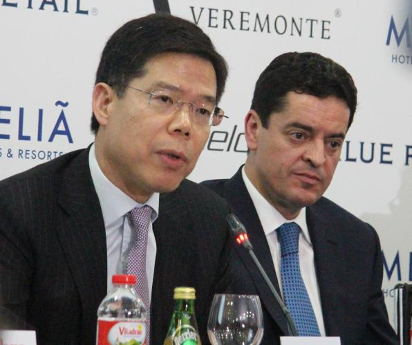 Frank Tsui and Enrique Bañuelos, in presentation.