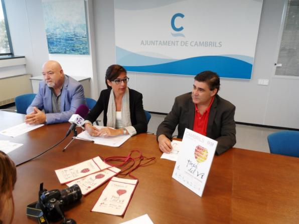 At presentation of the fair Cambrils, wine country