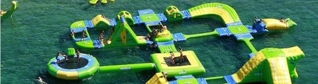 Salou have a floating playground Llevant beach