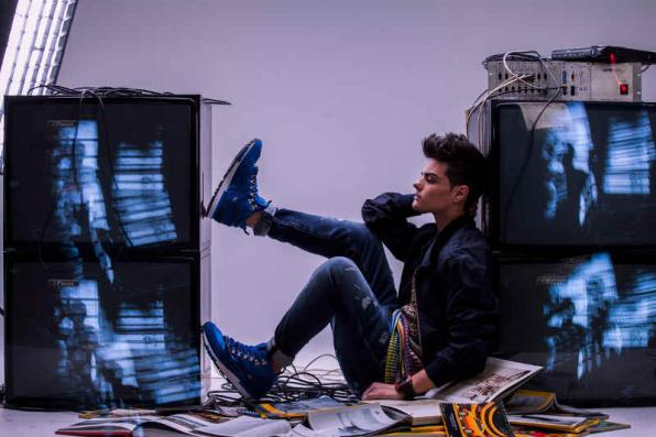 Abraham Mateo perform in Salou on 25 April 2015