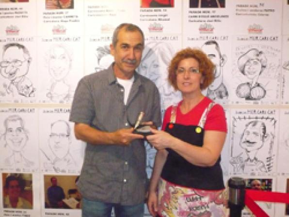 Central Market Tarragona delivery of the prizes of the best cartoon Mercaricat 2010.