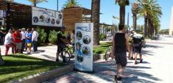 Salou opens a police station beach every summer in Jaume I promenade