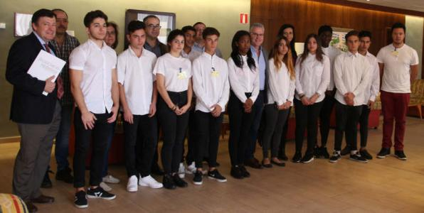 Students of hospitality and tourism of Salou