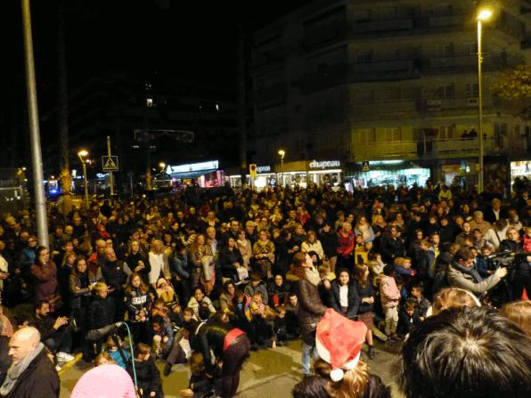 Time of the lighting of Christmas lights in Salou