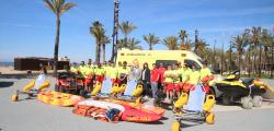 Service of first aid of the beaches of salou