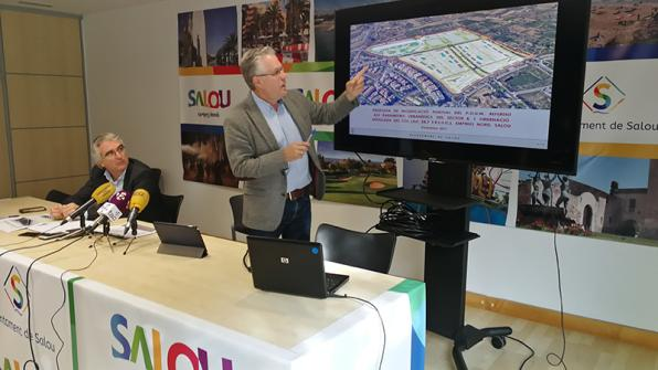 The mayor, Pere Granados, during the presentation of the partial plan