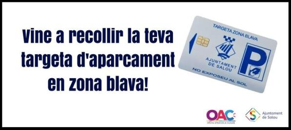 Municipal parking card used by residents of Salou