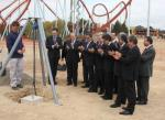 PortAventura Artur Mas placed the first stone of what will be the highest roller coaster in Europe