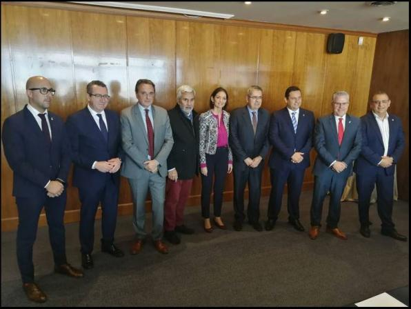 The eight mayors of the AMT met in Madrid