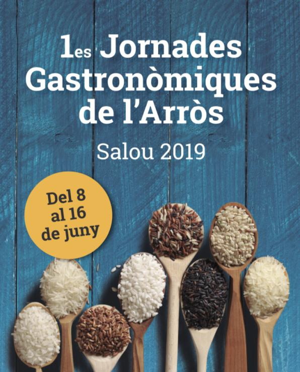 Image of the poster of the Gastronomic Days of the Salou Rice