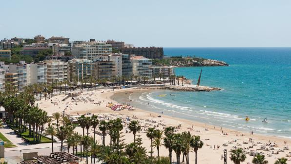 Image of one of Salou beaches
