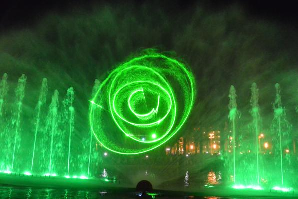 New show of the Cybernetic Fountain of Salou 1