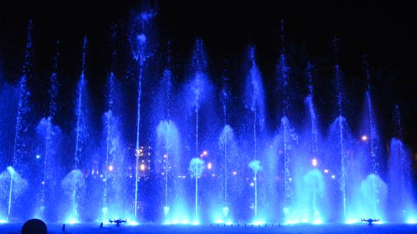 New show of the Cybernetic Fountain of Salou 2