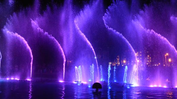 New show of the Cybernetic Fountain of Salou 3