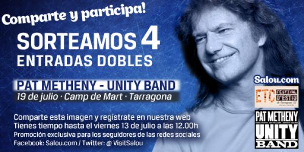 Participate and win 4 tickets to live double live Pat Metheny concert in Tarragona 1
