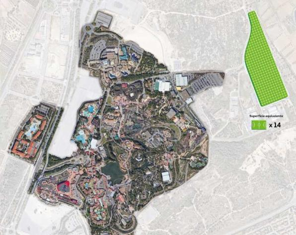 Image of the location of the PortAventura World photovoltaic plant