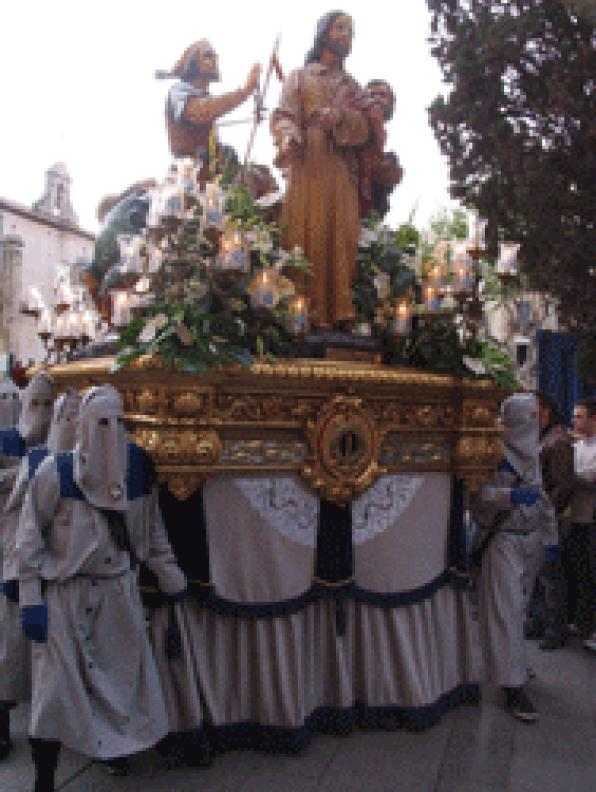 Orden at the procession for the holy burial