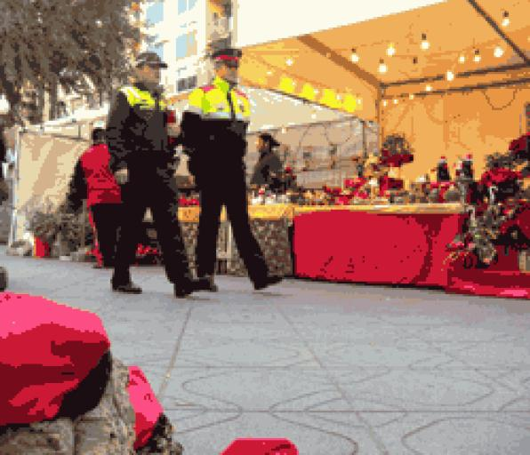 The police reinforced their presence on the streets during the Christmas