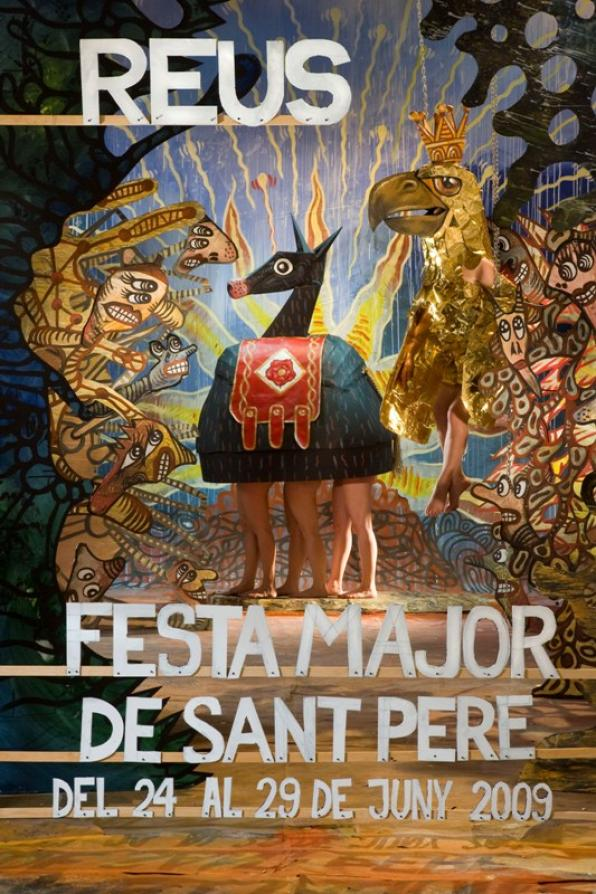 The artist Marcel ·lí Antúnez produces the poster of the Festa Major de Sant Pere de Reus 2009