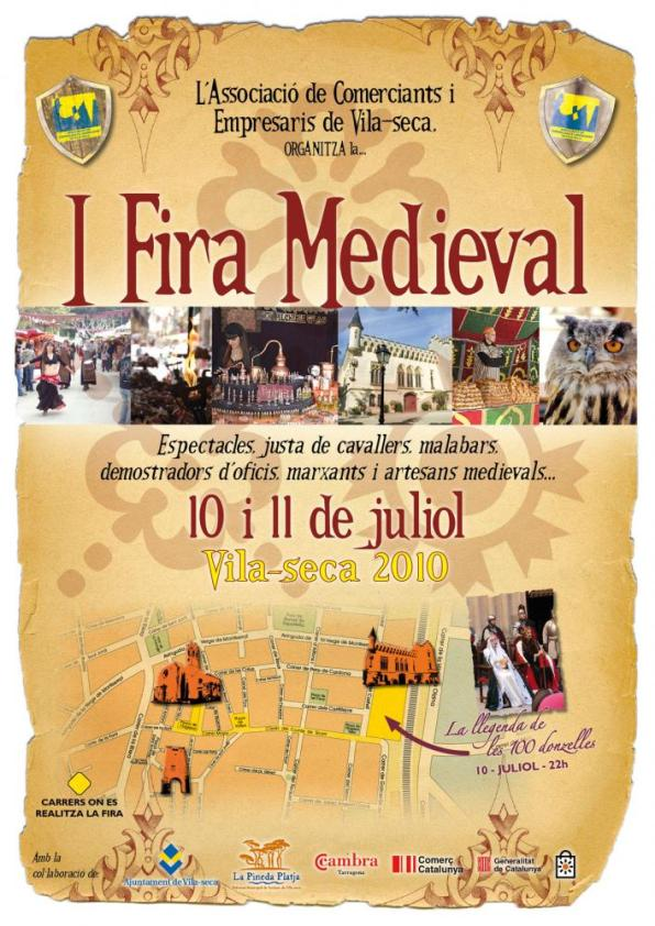 The first Medieval Fair of Vilaseca, 10 and 11 July