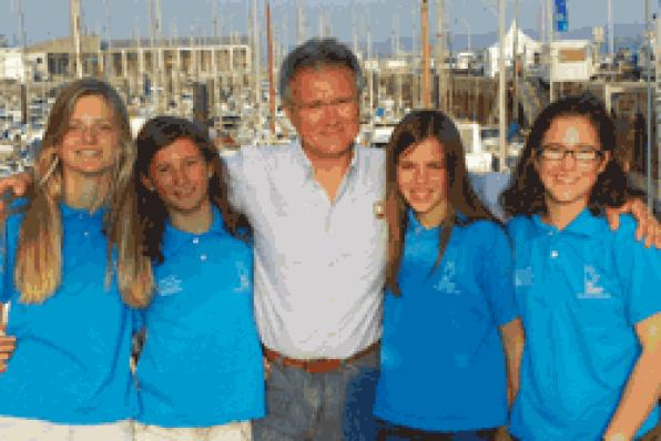 Salou. Costa Dorada. The skipper of the Yacht Club in Salou, Carla mounting, has the biggest success
