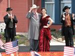 "Larry Hagman (JR of ""Dallas"") and Vicky Martin Berrocal open the Golden River Hotel of PortAventura"