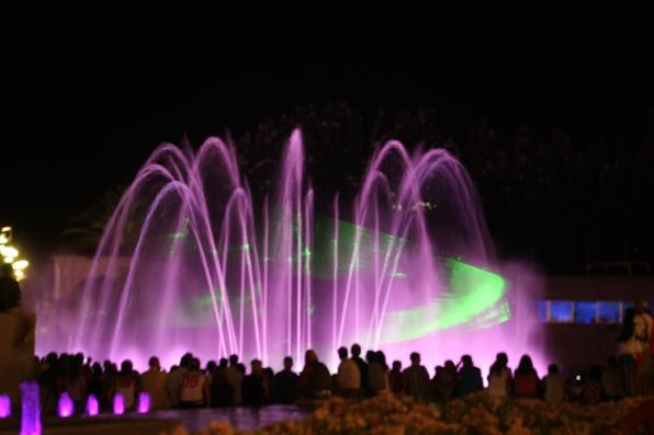Cyber sources, a free extravaganza of light and sound every day in Salou