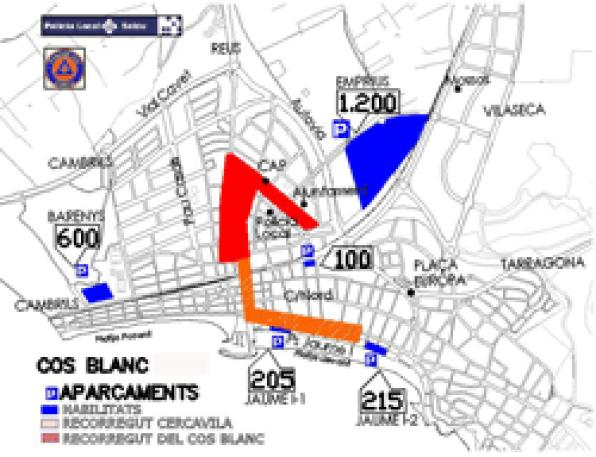 Salou is prepared to receive 2500 cars for the Cós Blanc celebration this Saturday