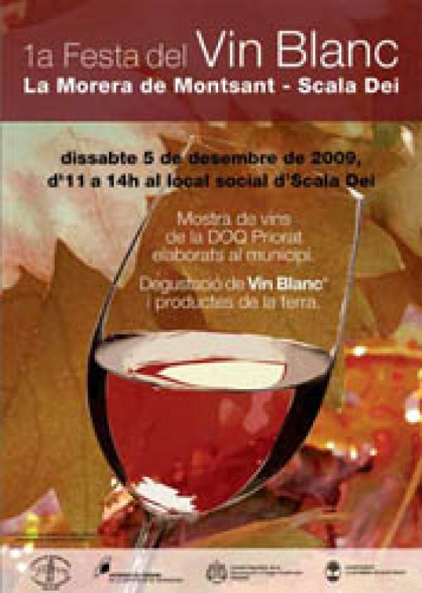 "The 1st party of the ""Vin Blanc"" arrives sto Morera and Escaladei"