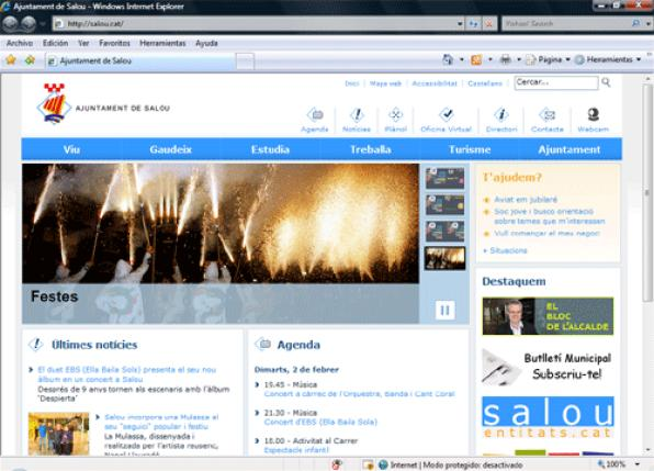 Salou www.salou.cat renews the municipal website making it more accessible