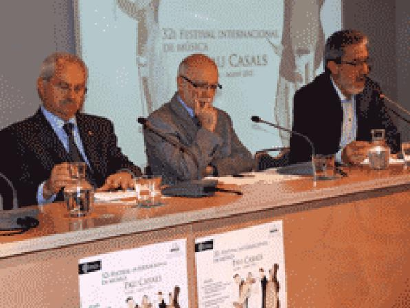 Presentation of the 32nd International Music Festival Pau Casals