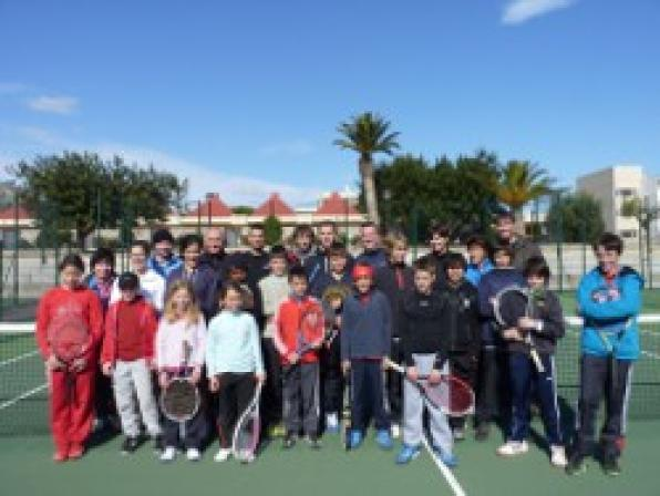 L'Hospitalet de l'Infant hosts a stay of the French tennis federation