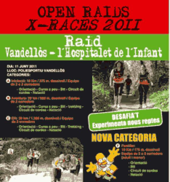 The Open Raids X-Race 2011 reach Vandellòs Hospitalet de l'Infant