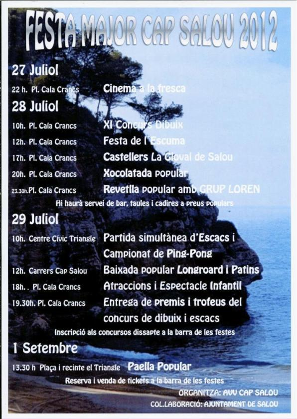 Weekend full of activities to celebrate the Festival of Cap Salou 1