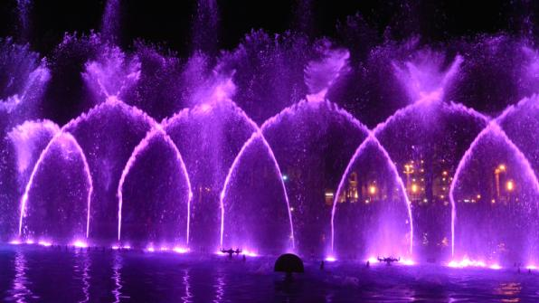 New show of the Cybernetic Fountain of Salou