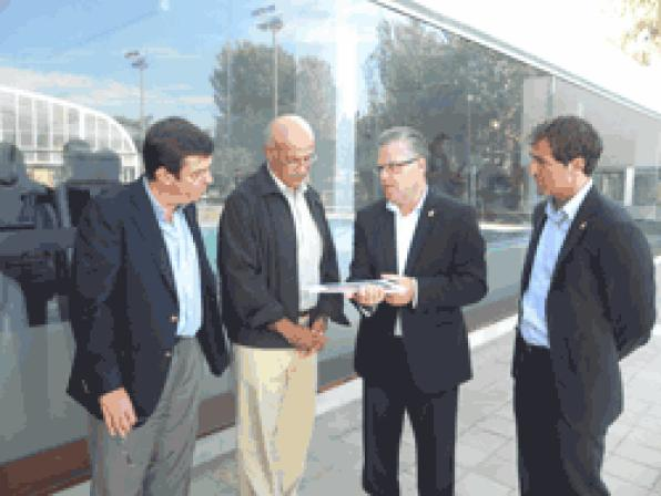 Salou receives the visit of President of the International Committee of Mediterranean Games