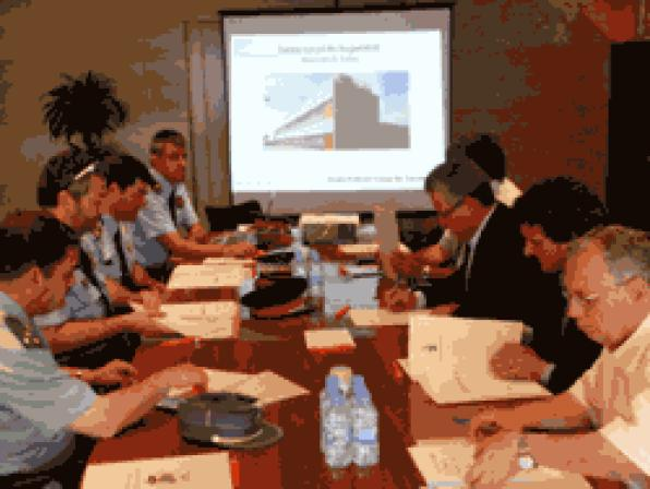 Meeting of the first security board in Salou