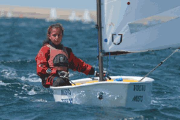 Marta Munté, winner of the Optimist cup in France