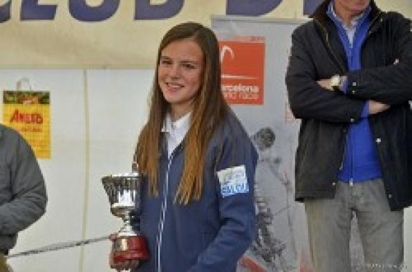 Carla Munté from Nautic Salou, among the elite of international Optmist