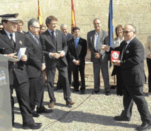 The Police Salou celebrates the festival of the patron Saint Michael at the Torre Vella