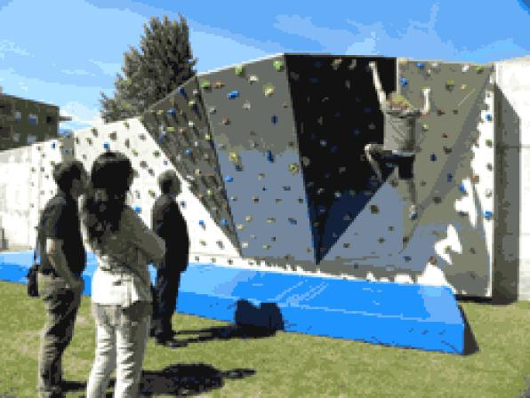 Salou now has a climbing wall in the farmhouse Tous