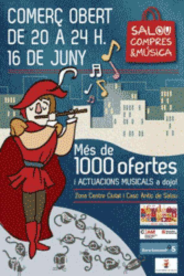 Salou mounts the first night of Shopping & music