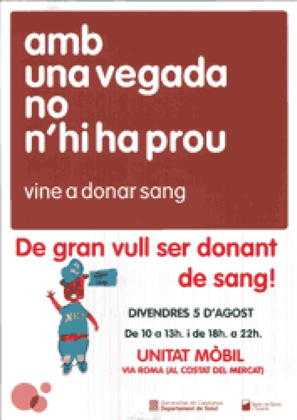 Salou is looking for new donors for its Blood Bank